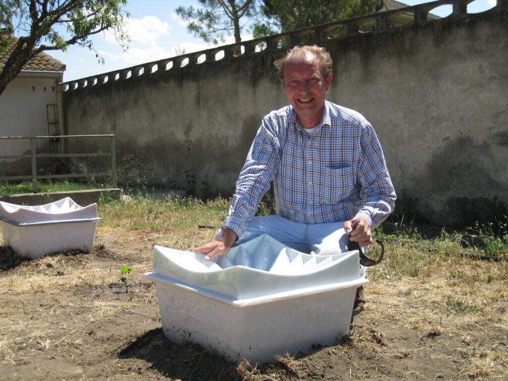 Pieter Hoff mit dem Zaragossa Prototyp